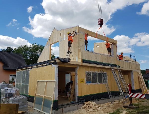 Budowa domu pokazowego dzień 4.