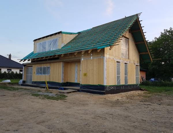 Budowa domu pokazowego dzień 5.
